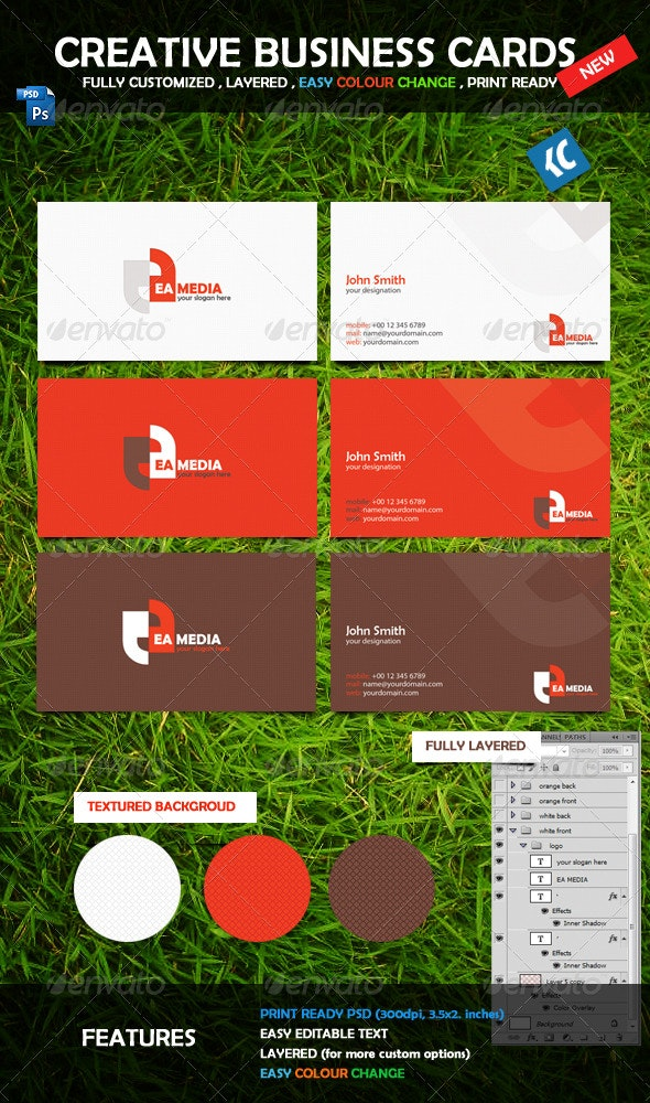 Creative Business Cards New - Corporate Business Cards