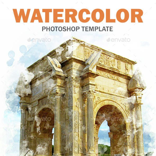Watercolor PhotoshopTemplate