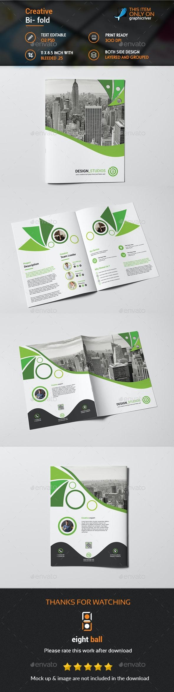 Creative Bi fold Brochureu Template - Brochures Print Templates