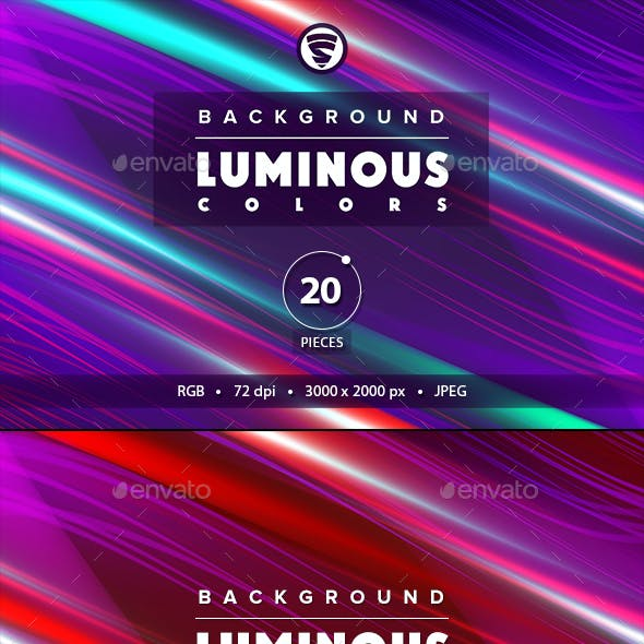 Background luminous colors 20 pieces