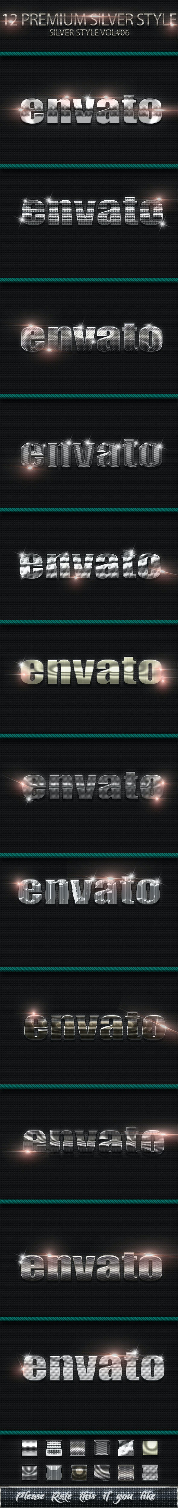 12 Photoshop Text Effect Styles Vol 6 - Text Effects Styles