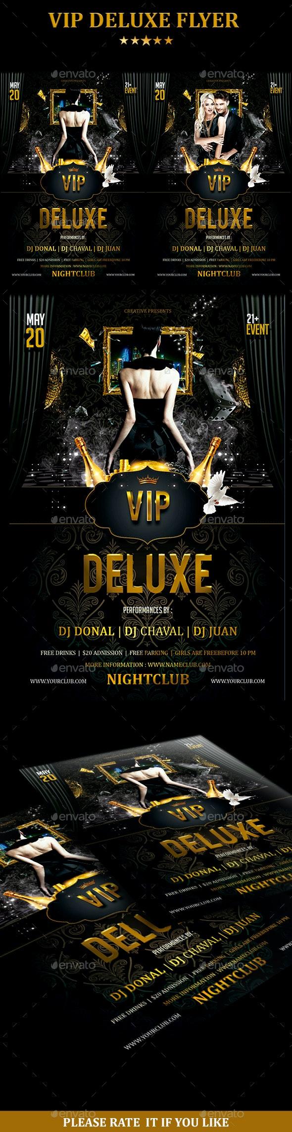 VIP Deluxe Flyer - Flyers Print Templates