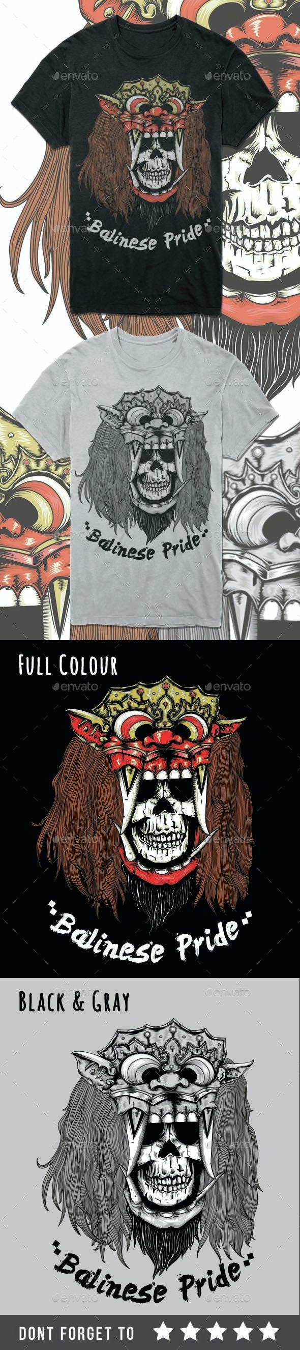 Skull Head Barong mask - Grunge Designs