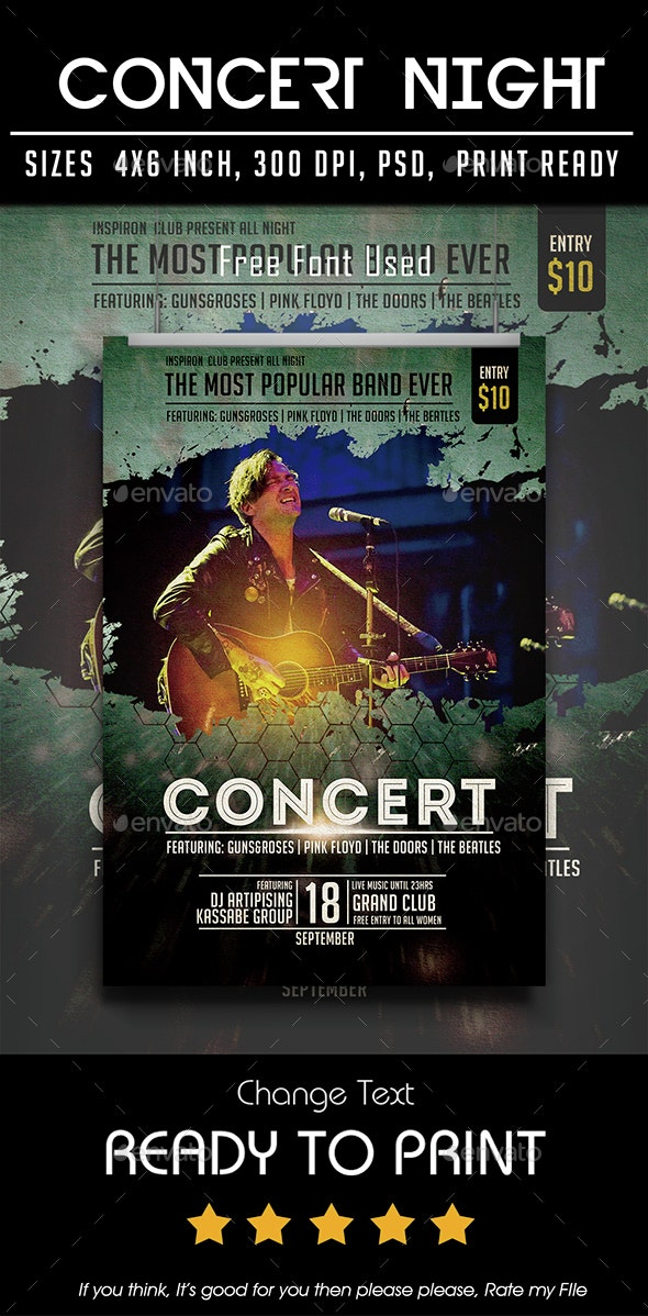 Concert Night - Flyers Print Templates