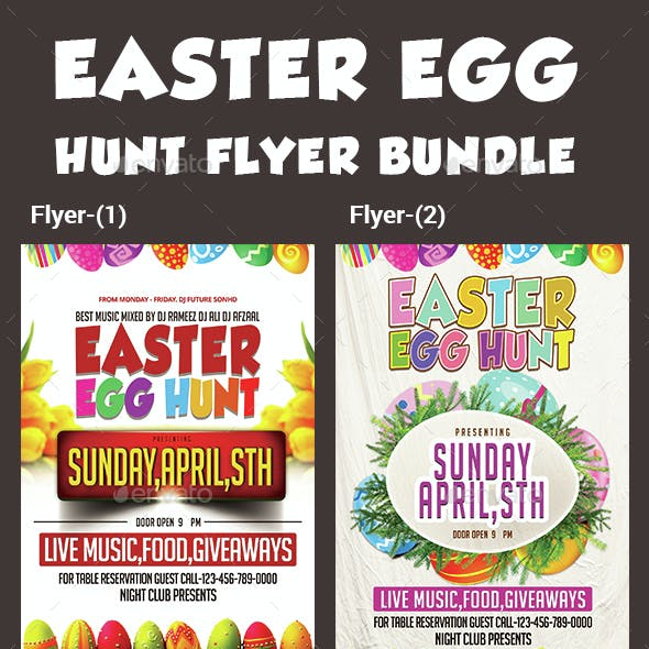 Easter Egg Hunt Flyer-Bundle