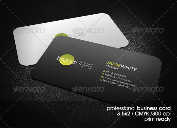 Clean&Stylish Business Card - Corporate Business Cards