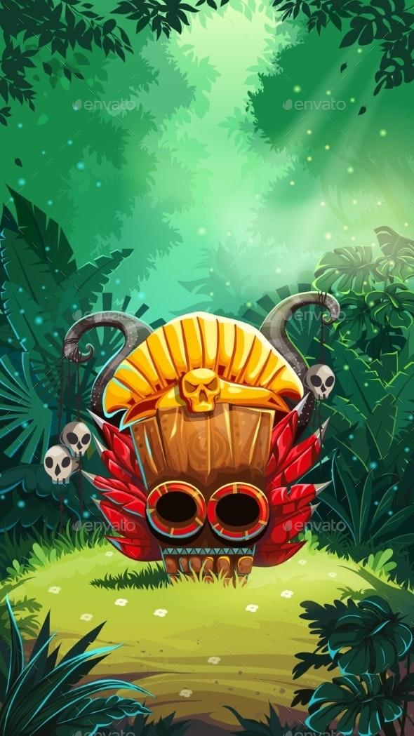 Jungle Shamans Mobile GUI Main Window - Backgrounds Decorative