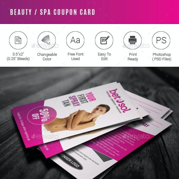 Beauty / Spa Coupon Card