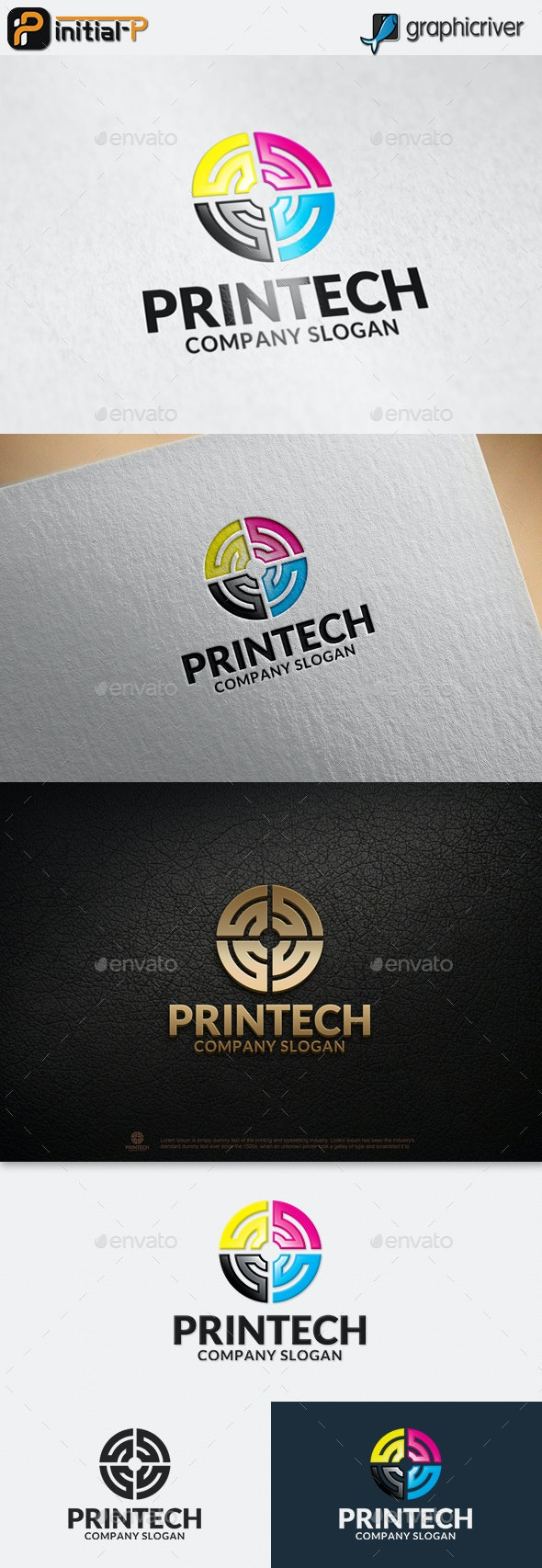 Printing Technology - Abstract Logo Templates