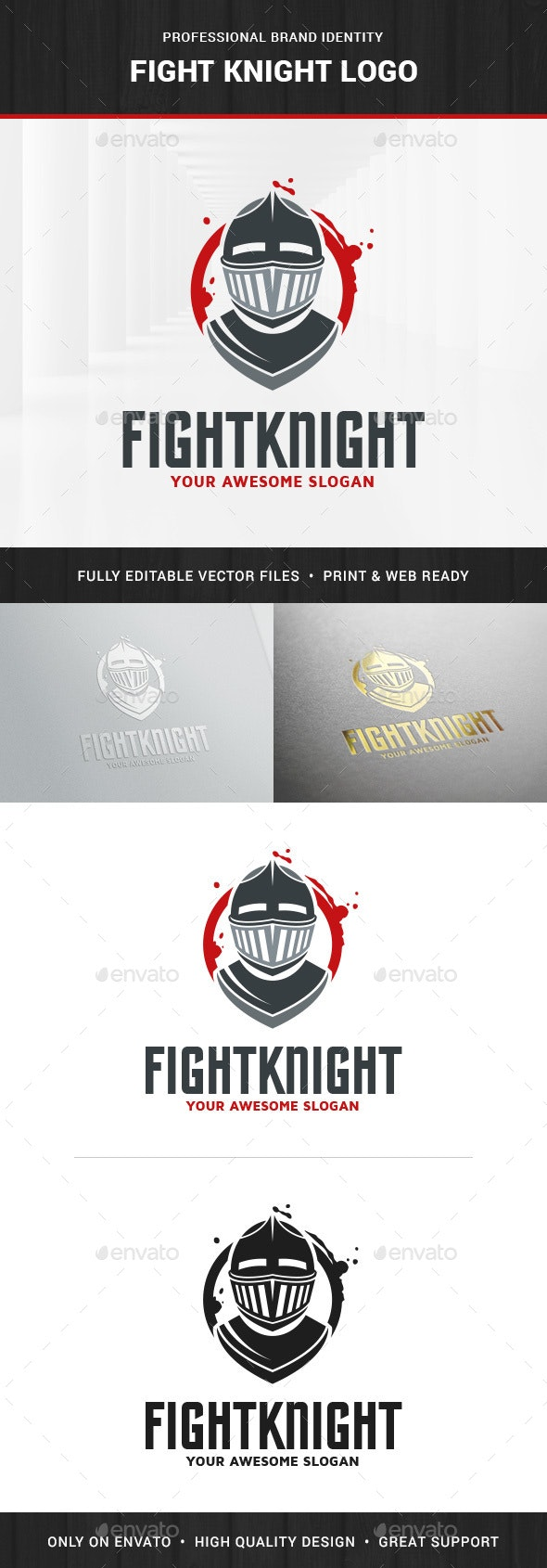 Fight Knight Logo Template - Humans Logo Templates