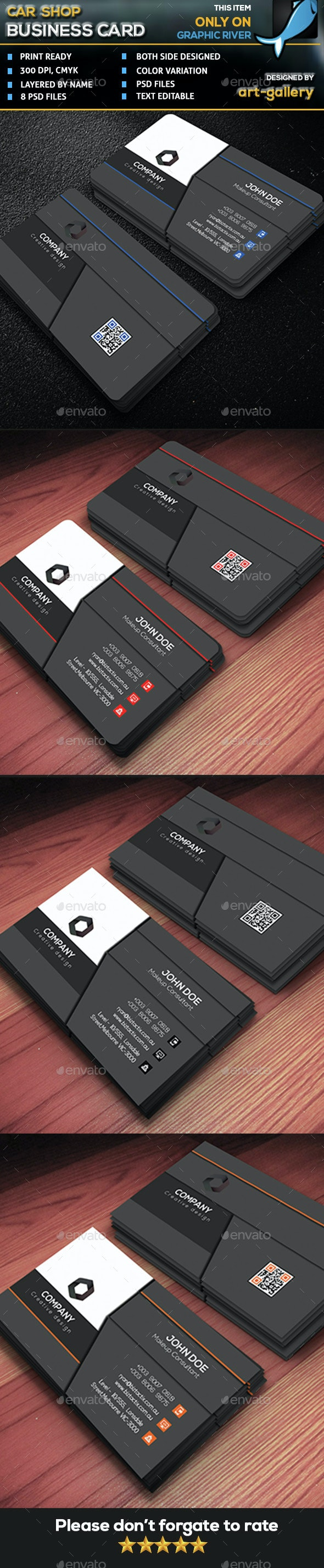 Professional Business Card 01 - Business Cards Print Templates