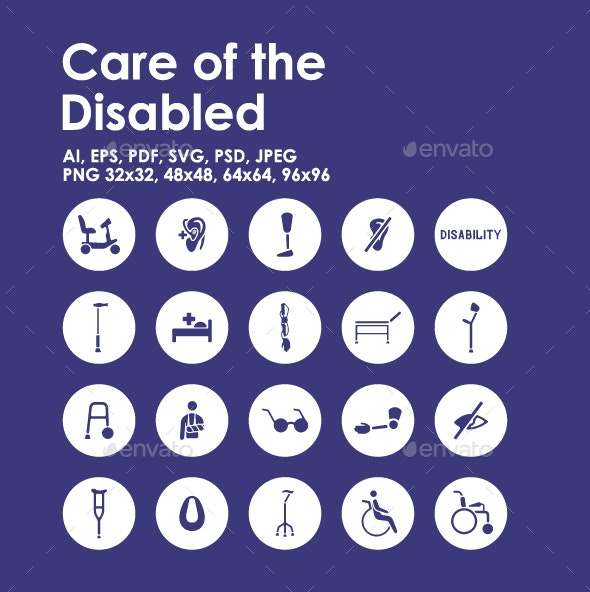 20 Care Of The Disabled icons - Objects Icons