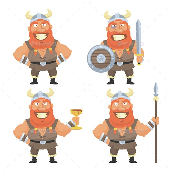 Viking in Different Versions - People Characters