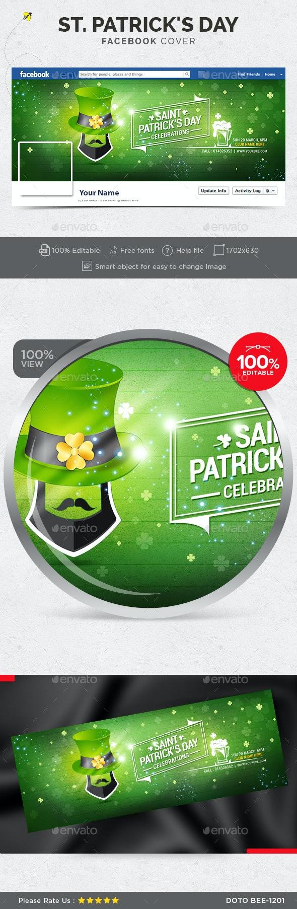 St. Patrick's Day Facebook Cover - Facebook Timeline Covers Social Media