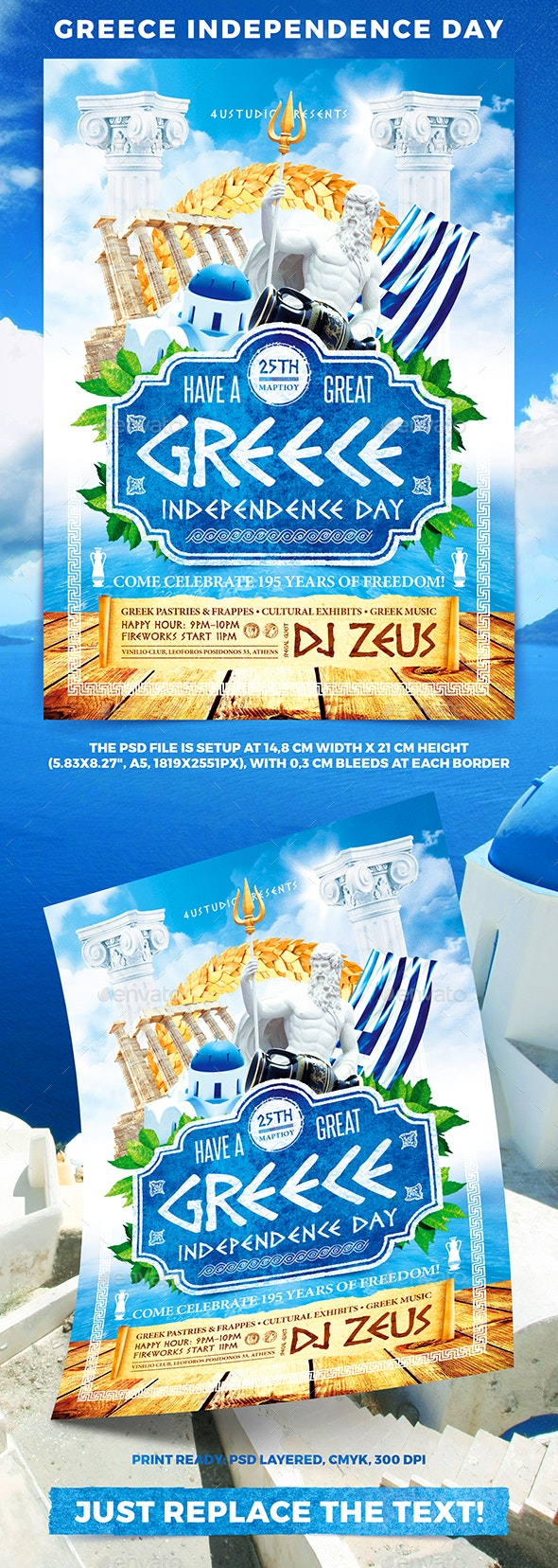 Greece Independence Day - Events Flyers