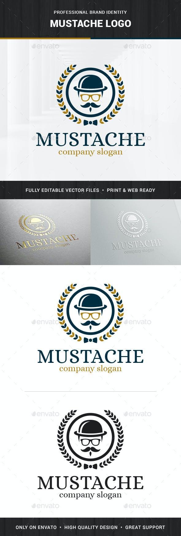 Mustache Logo Template