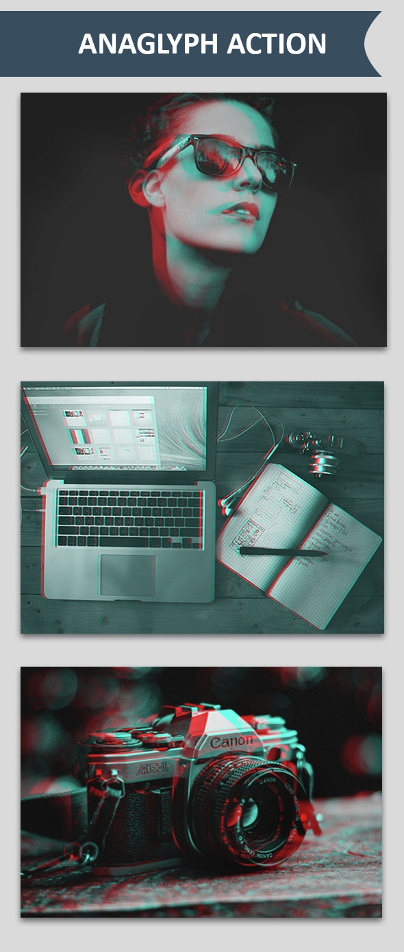Anaglyph Actions - Photo Effects Actions