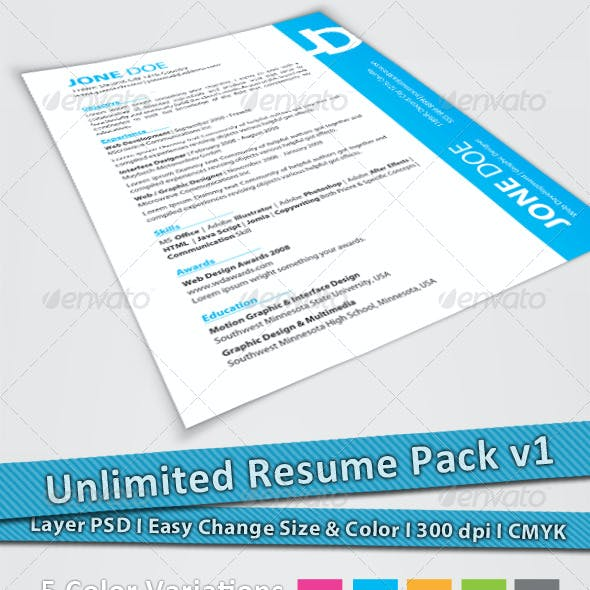 Unlimited Resume Pack v1