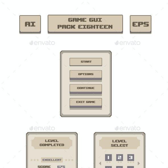 Game GUI Pack Eighteen