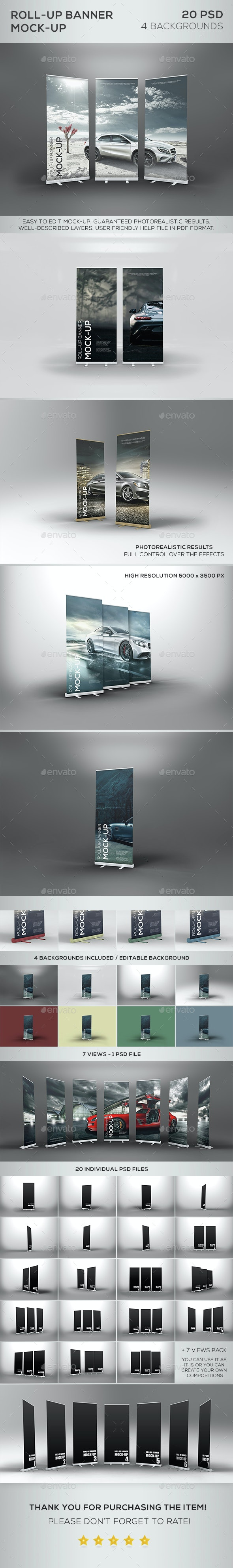 Roll-Up Banner Mock-Up - Product Mock-Ups Graphics