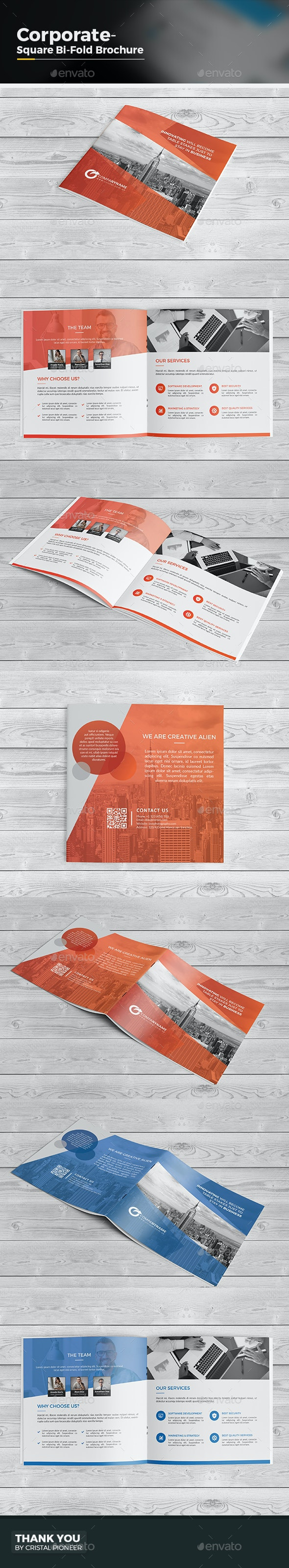 Square Bi Fold Brochure - Corporate Brochures