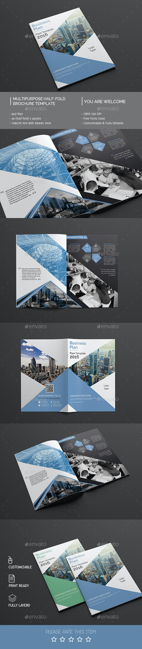 Corporate Bi-fold Brochure Template 03 - Corporate Brochures