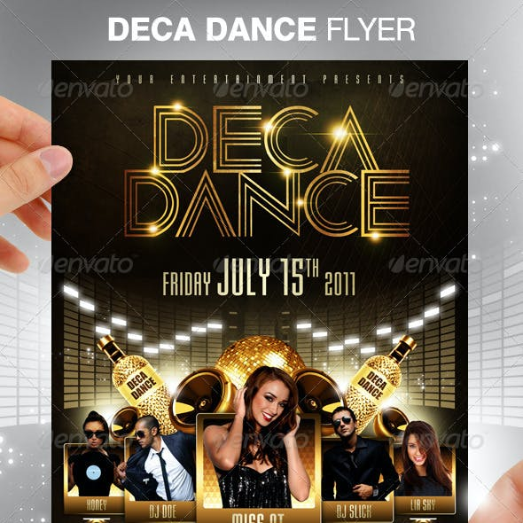 Deca Dance Party Flyer