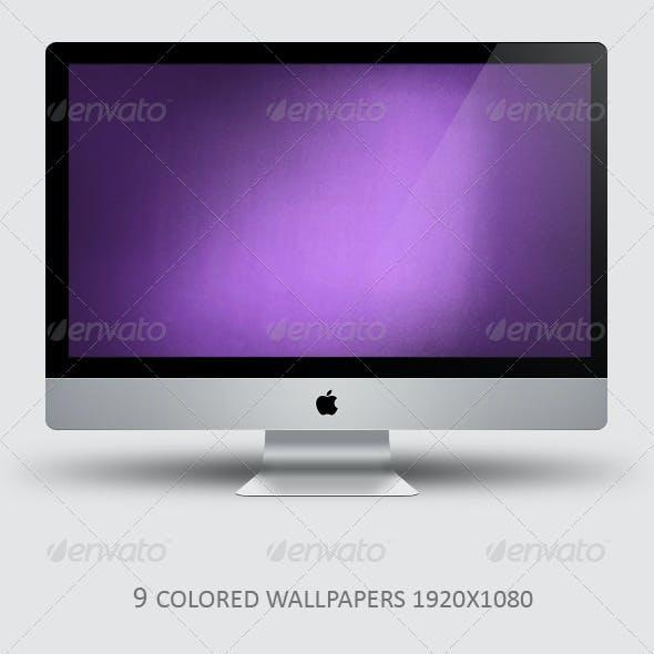 9 colored wallpaper