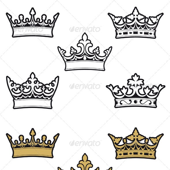Heraldic crowns and diadems