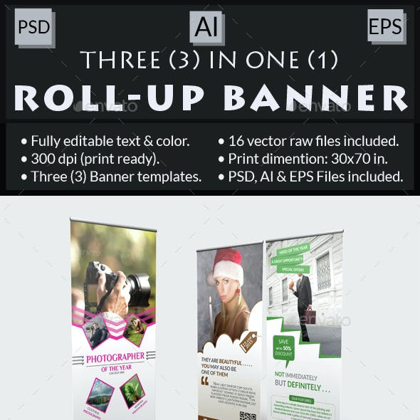 Multi-Purpose Roll-Up Banner Bundle
