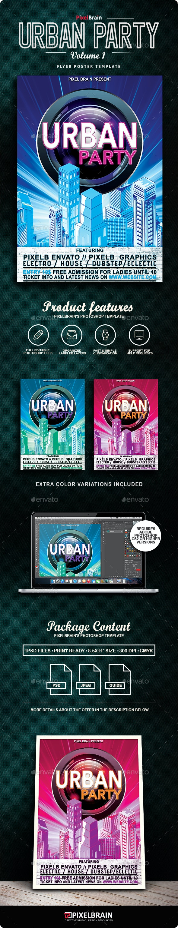 Urban Flyer/Poster Vol. 1 - Clubs & Parties Events