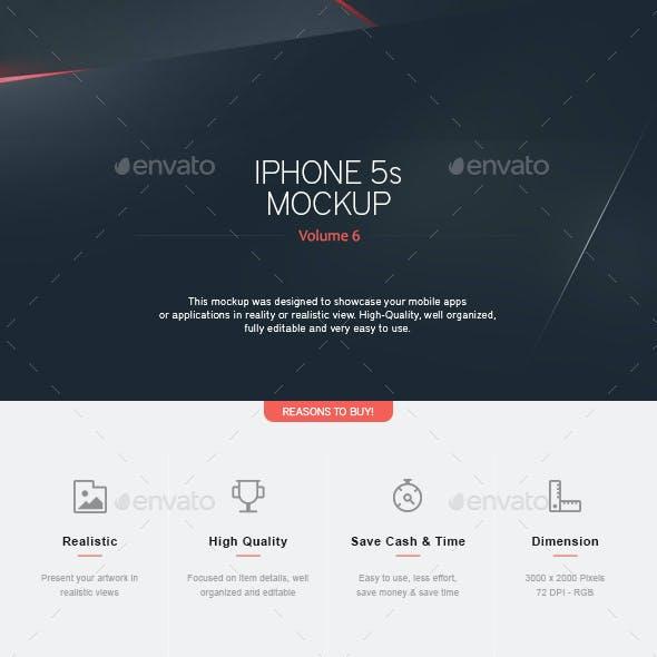 Phone 5s Mockup V.6