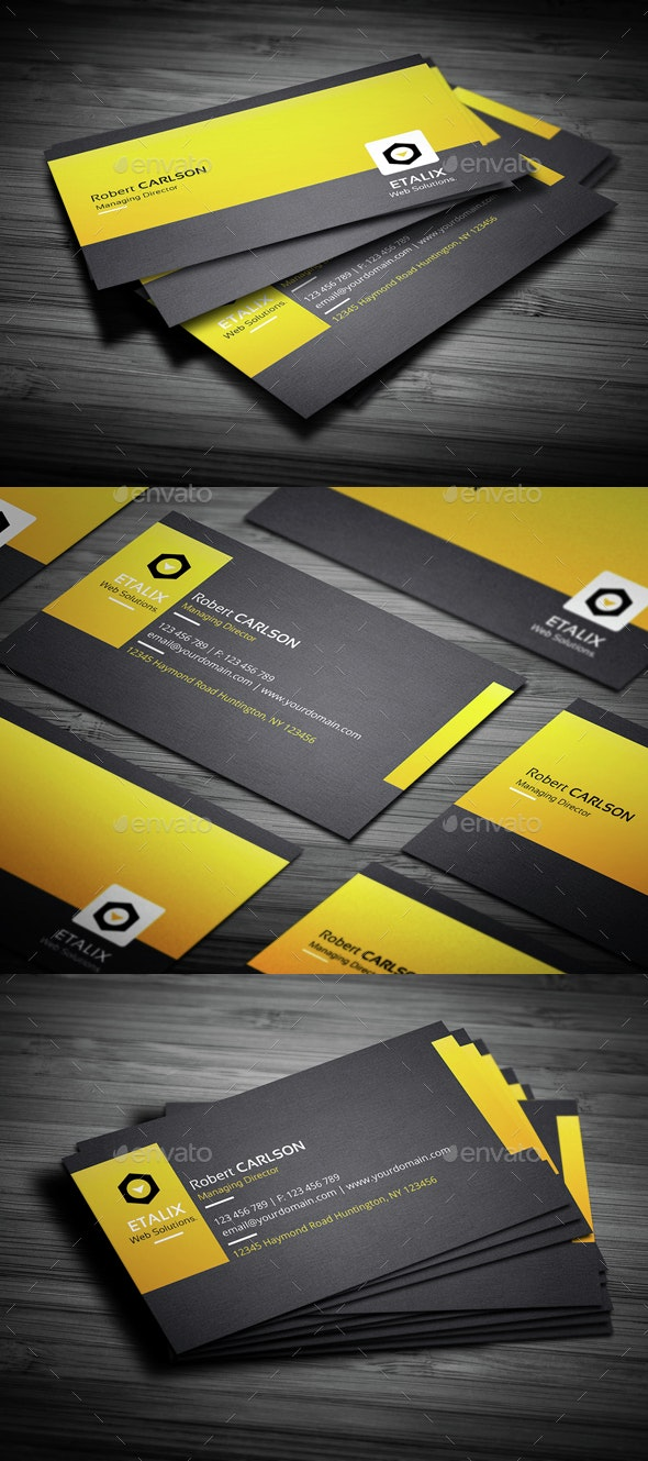 Creative Yellow Busines Card - Creative Business Cards