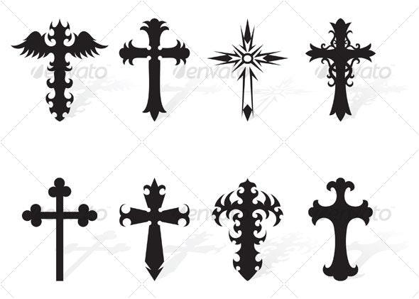 black cross - Religion Conceptual