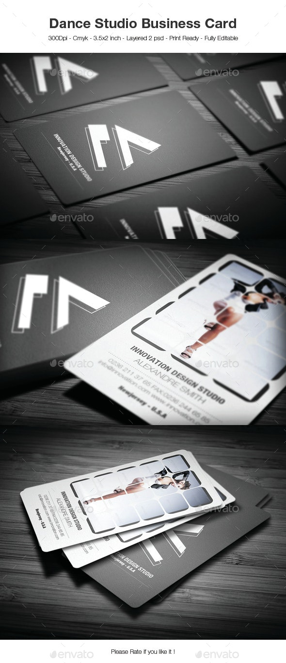 Dance Studio Business Card - Creative Business Cards