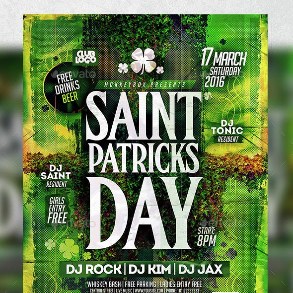 Saint Patricks Day Flyer Konnekt