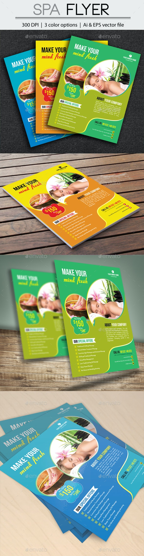 Spa Flyer - Flyers Print Templates