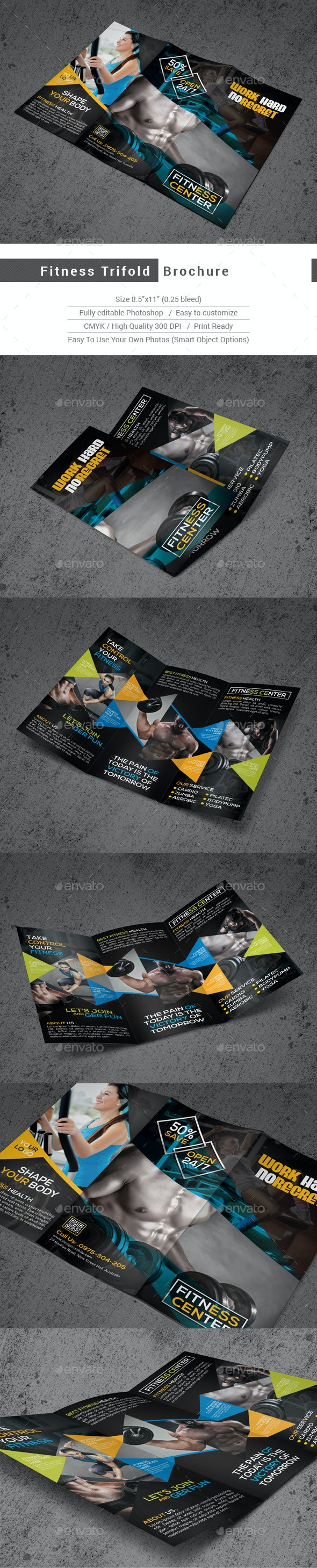 Fitness Trifold Brochure - Corporate Brochures