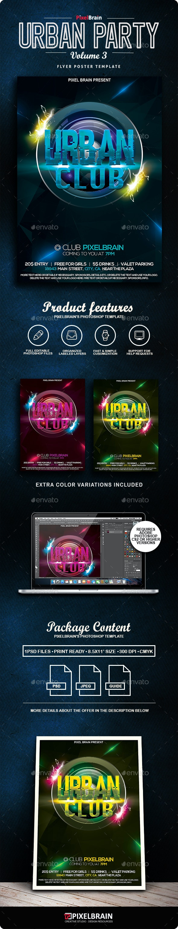 Urban Flyer/Poster Vol. 3 - Clubs & Parties Events