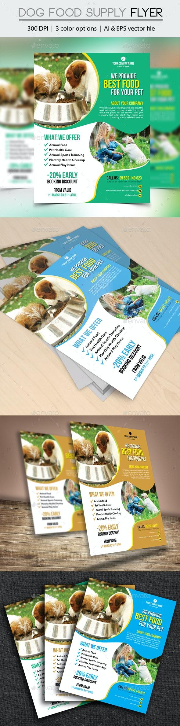 Dog Food Supply Flyer - Flyers Print Templates