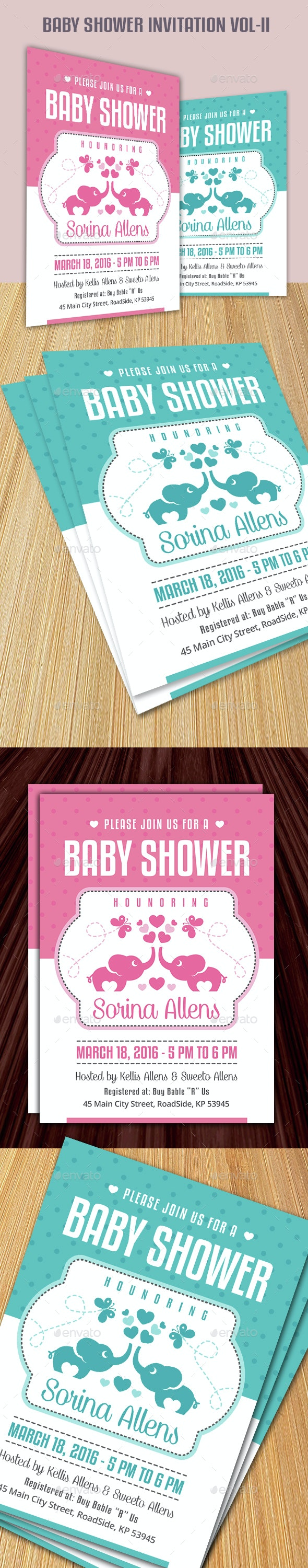 Baby Shower Invitation Vol-II - Invitations Cards & Invites