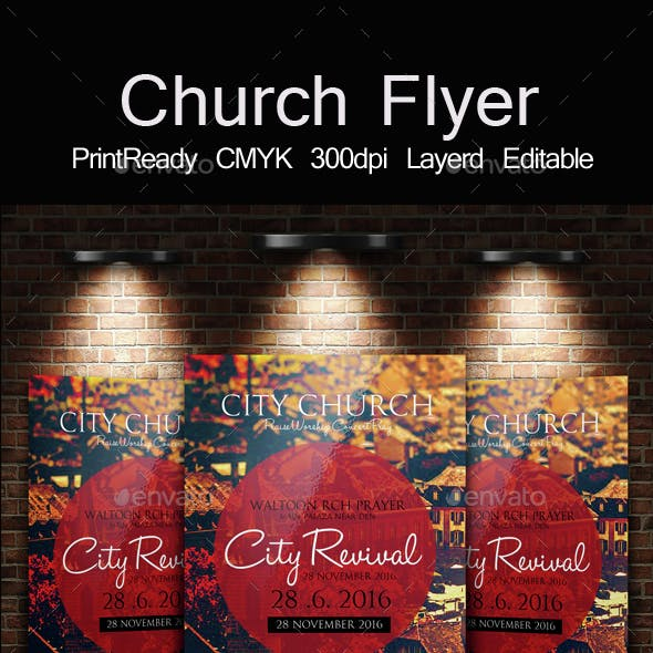 The City Revival Church Flyer