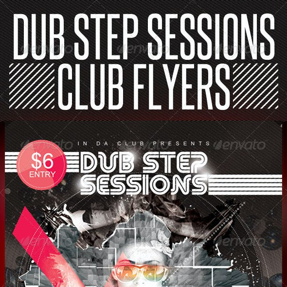 Dubstep Session Club Flyer