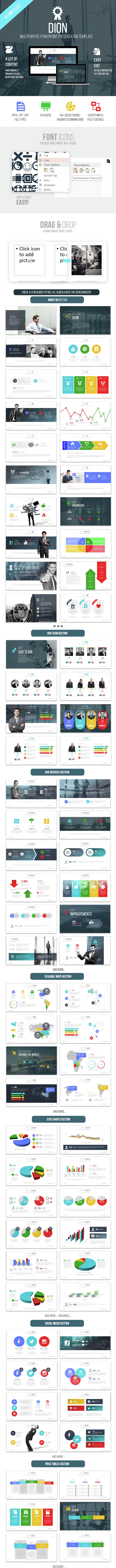 Dion Powerpoint Presentation Template - Business PowerPoint Templates