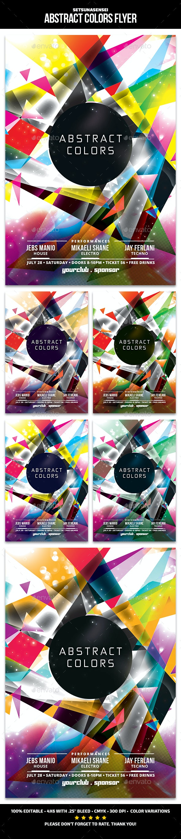 Abstract Colors Flyer - Clubs & Parties Events