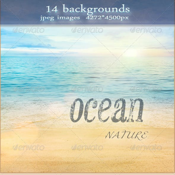 Nature Summer Ocean Backgrounds with Sand Beach