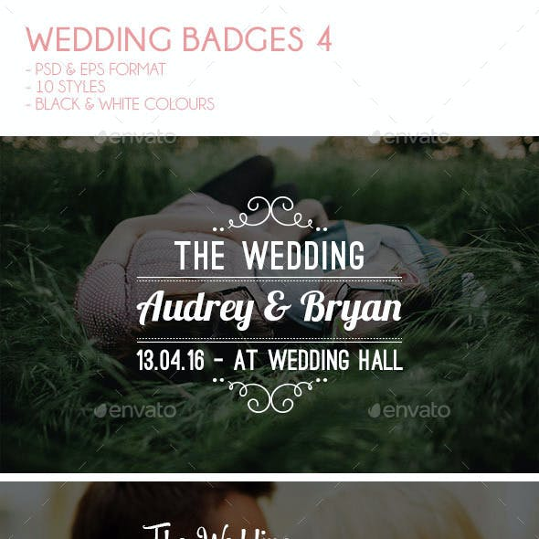 Wedding Badges 4