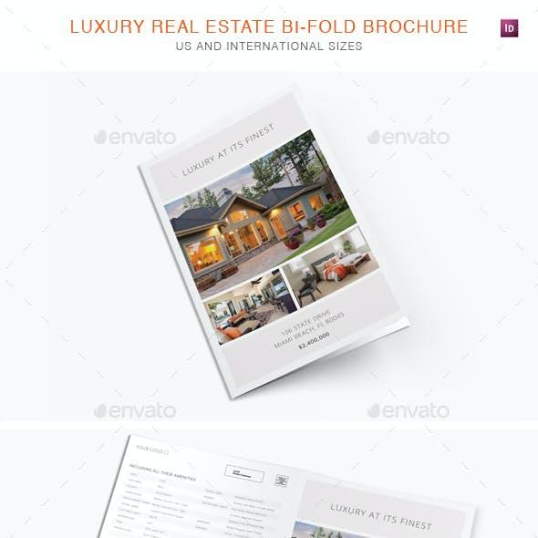 Luxury Real Estate Bi-Fold Brochure