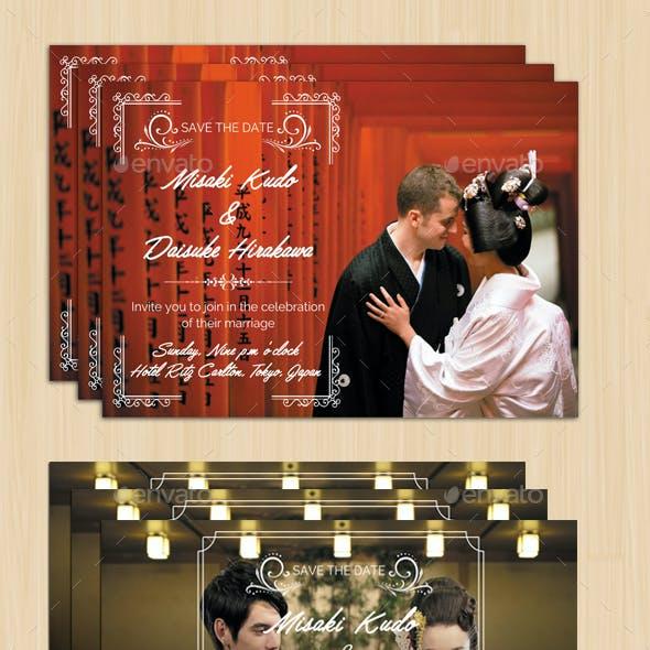 Asia Wedding Card ( 2 styles)