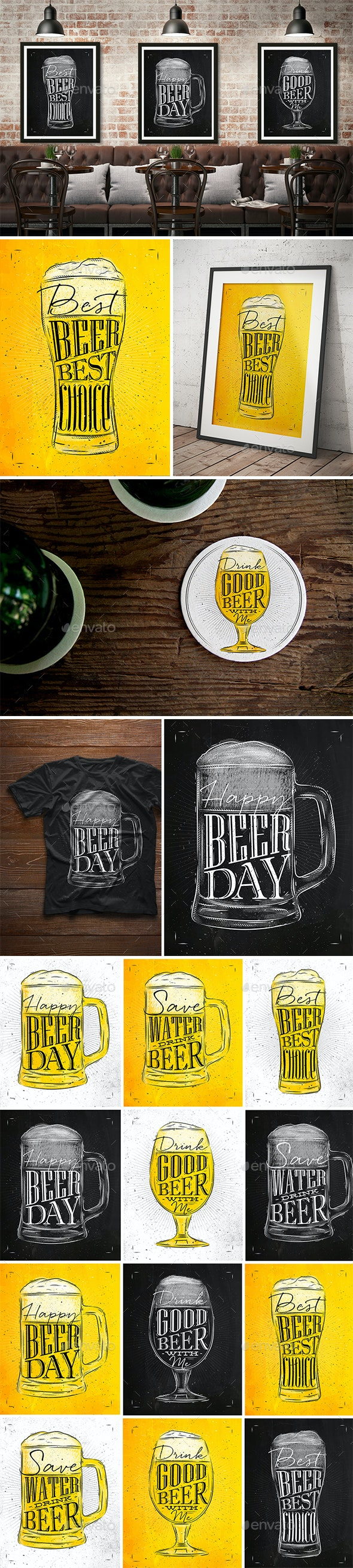 Set Beer Posters - Food Objects
